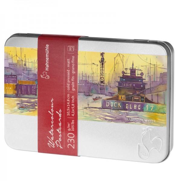 Pastkartes ūdenskrāsām Hahnemuhle ar metāla kasti, Cold Pressed