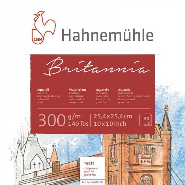 Akvareļu albums Hahnemuhle Britannia  25,4x25,4 30 lapas, 300 gr/m