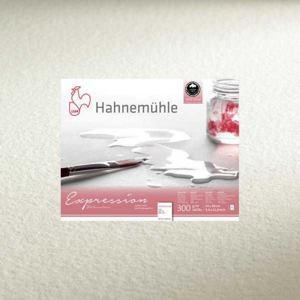 Akvareļu albums Hahnemuhle Expression- 100% kokvilna 24x30cm