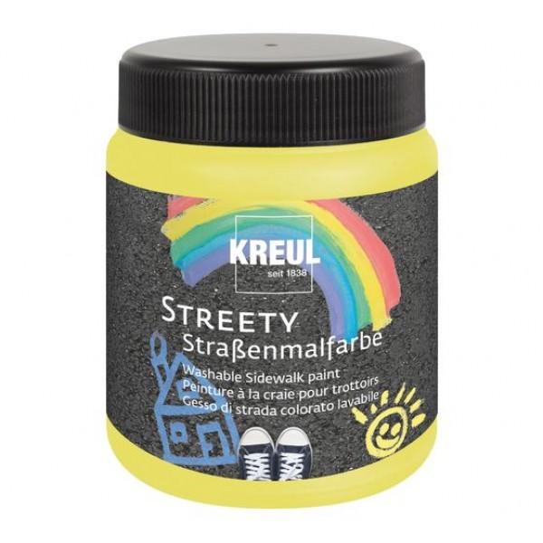 KREUL  nomazgājama asfalta krāsa'' Streety'' 200 ml; dzeltena