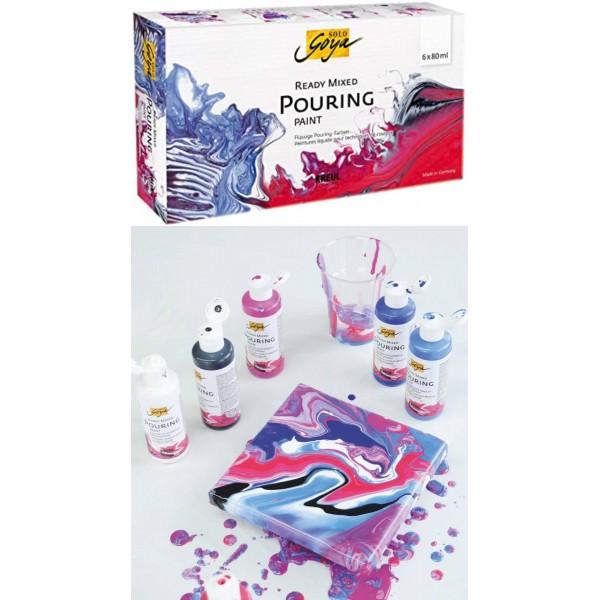 Akrila krāsu komplekts  KREUL ''Ready Mixed Pouring''  6 x 80 ml