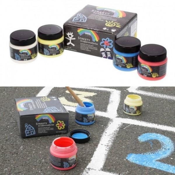 KREUL  nomazgājama asfalta krāsa'' Streety'' 4x120ml