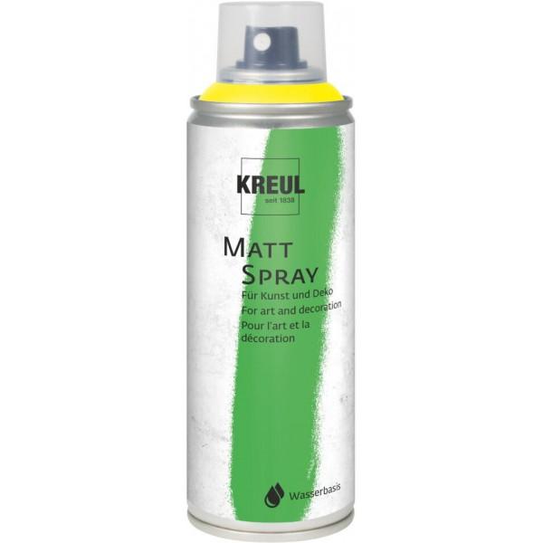 KREUL Matt Spray Aerosola Krāsa 200 Ml;  Dzeltens Nr. 76312