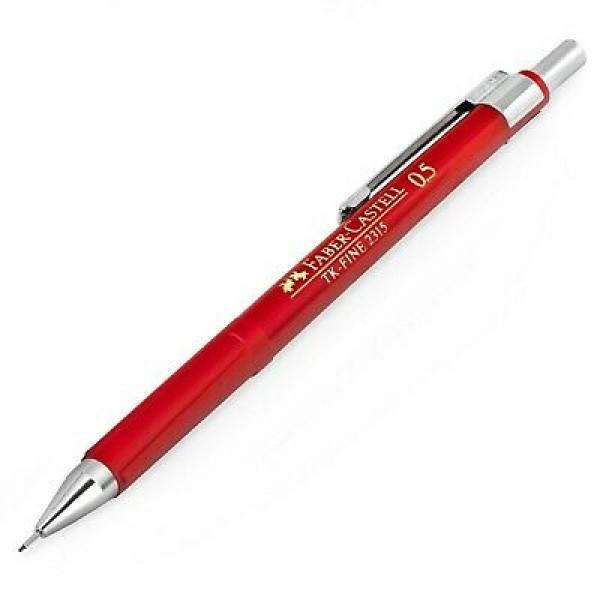 Mehāniskais zīmulis Faber Castell TK-Fine  2315, 0.5 mm, sarkans