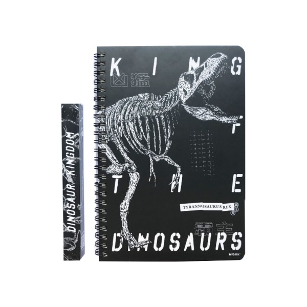 A5 Klade cietos vākos ar spirāli M&G '' Dinosaurs''