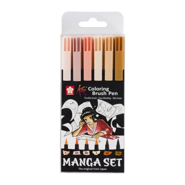 Koi otas tipa marķieru komplekts ''Manga Set ''  6 krāsas