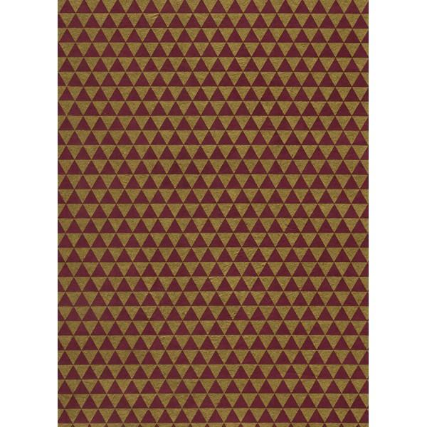 Nepālas papīrs  A4  Bordo  krāsas fons ar zelta trīsstūriem