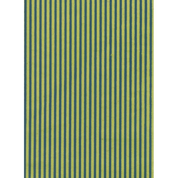 Nepālas papīrs  A4  Zaļās  krāsas fons ar zilām strīpām