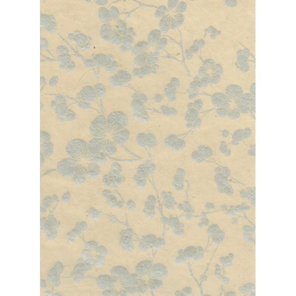 Nepālas papīrs  A4 Sudraba sakuras ziedi