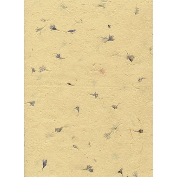 Nepālas papīrs  A4 Natural Fern Blue Flower