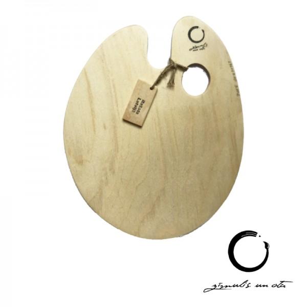 Koka palete ovāla '' Zīmulis un Ota'' 25x26cm, biezums 3mm
