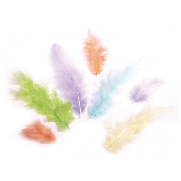 Dekoratīvas spalvas Rayher '' Pasteļtoņi''