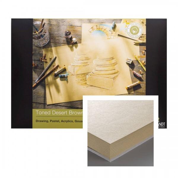 Albums Rembrandt Toned Desert Brown A4- Tonēts Brūns Papīrs 15 % kokvilna