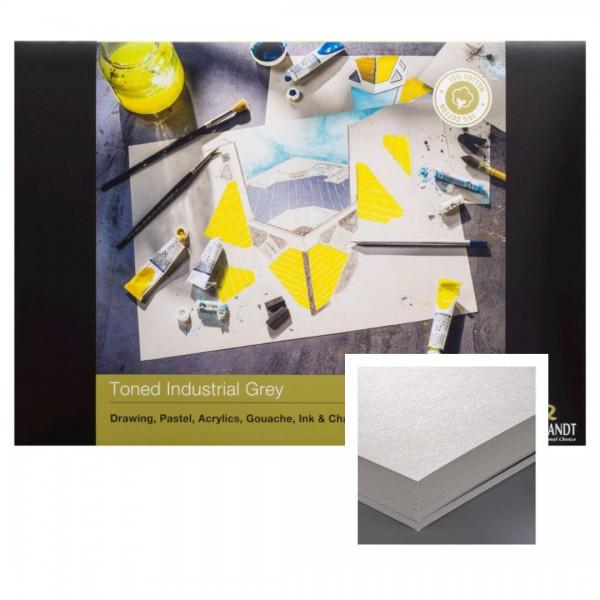 Albums Rembrandt Toned Industrial Grey A4- Tonēts Pelēks Papīrs 15 % kokvilna