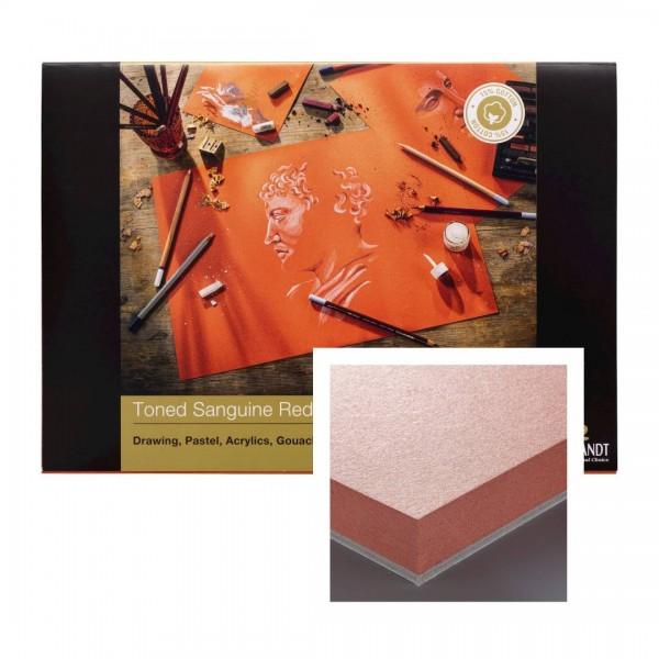 Albums Rembrandt Toned Sanguine Red A3- Tonēts Sarkanīgs Papīrs 15 % kokvilna