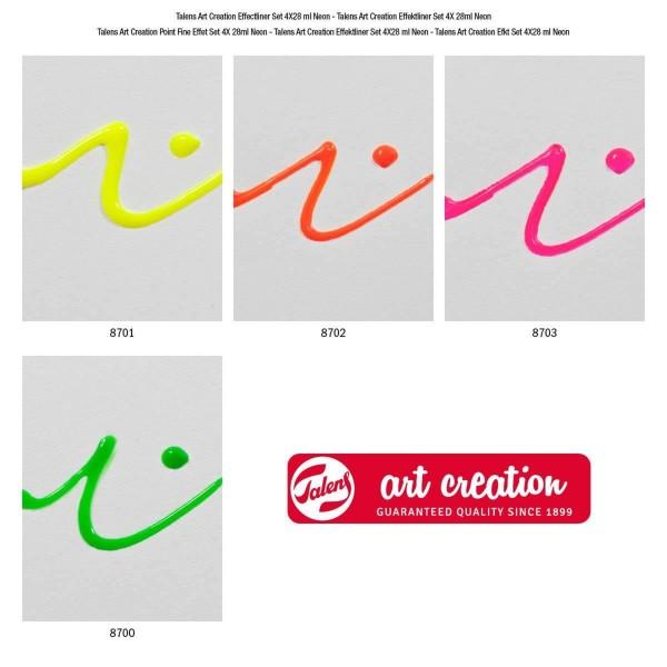 Art Creation 3D konturkrāsu komplekts; Neona krāsas
