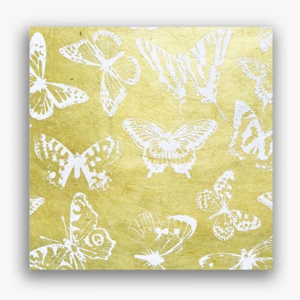 Nepālas papīrs A4 Dzeltenie Taureņi