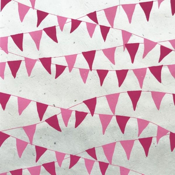 Nepālas papīrs A4 Rozā karodziņi