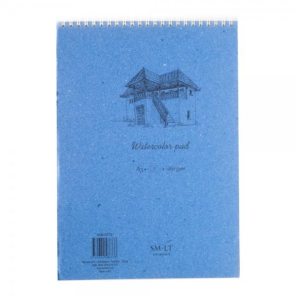 Akvareļu albums SMLT A4 ar spirāli; 280 gr, 35lp