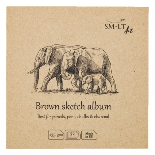 Albums SMLT Layflat Brown Sketch  14x14cm,
