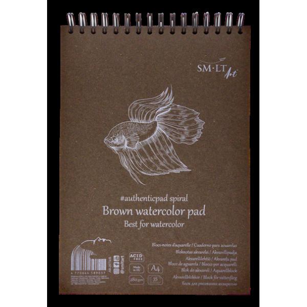 Skiču Bloks SMLT tonēts brūns papīrs , A4 ar spirāli