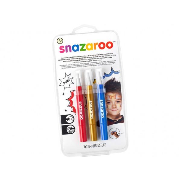 Sejas krāsas marķieru komplekts  Snazaroo 3gab. Adventure
