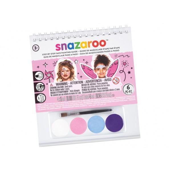 Snazaroo sejas krāsu komplekts Booklet A6 4x1ml+ota Girls