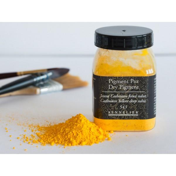 Sausais pigments Sennelier 100gr  Cadmium Yellow Deep Hue 543
