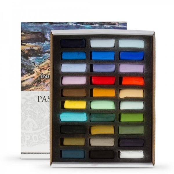 """Pasteļu komplekts Sennelier Seaside Half length (pusītes)"""",30  krāsas"""