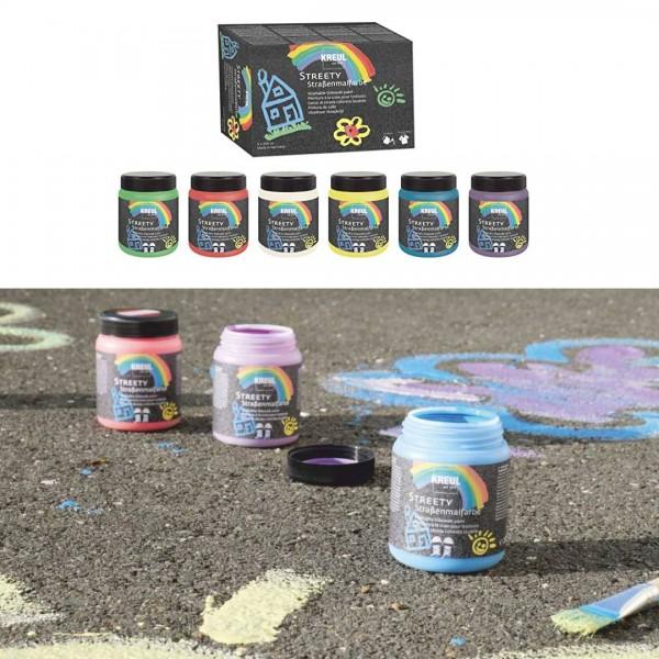 KREUL  nomazgājama asfalta krāsa'' Streety'' 6x200ml