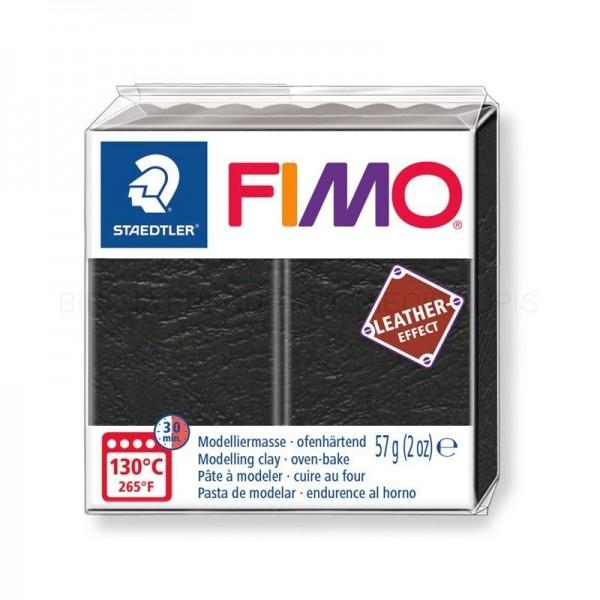 Polimērmāls FIMO Leather-Effect, melns 909