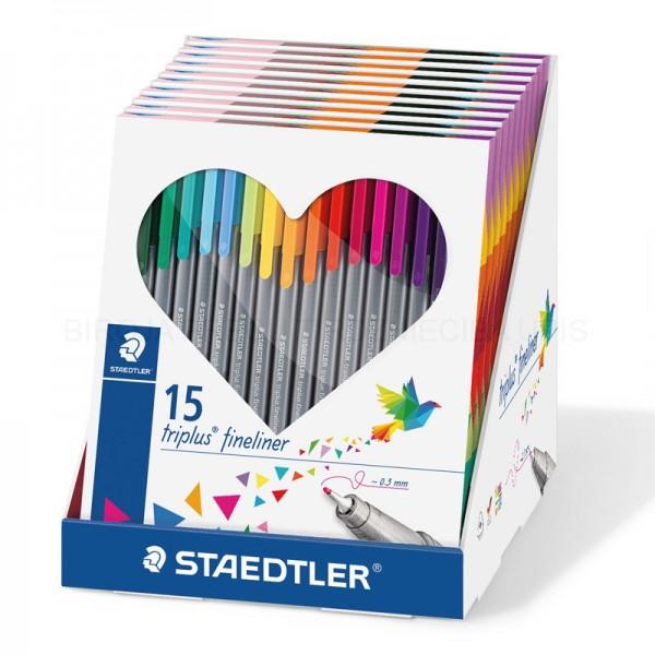 Flomāstera pildspalvas Staedtler Triplus® Fineliner 15 krāsas
