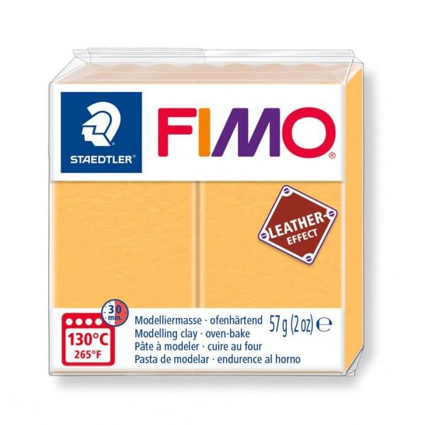 Polimērmāls FIMO Leather-Effect, safrāna dzeltens 109