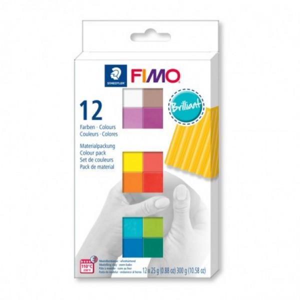 Fimo komplekts Brilliant Colours 12 gab. komplekts