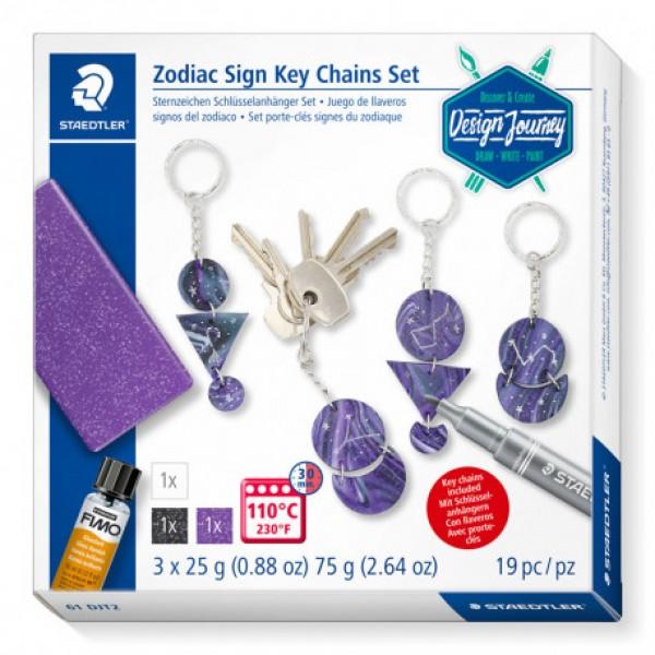 Komplekts piekariņš Zodiaka zīmes Staedtler '' Zodiac Sign Key Chains Set ''