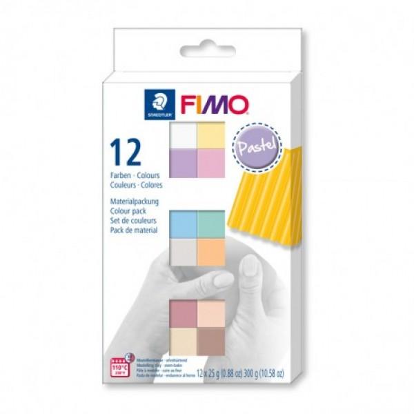 Fimo komplekts  Pastel Colours  12 gab. komplekts