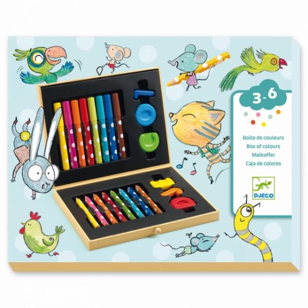 Krāsošanas piederumu komplekts mazajiem Djeco DJ09010