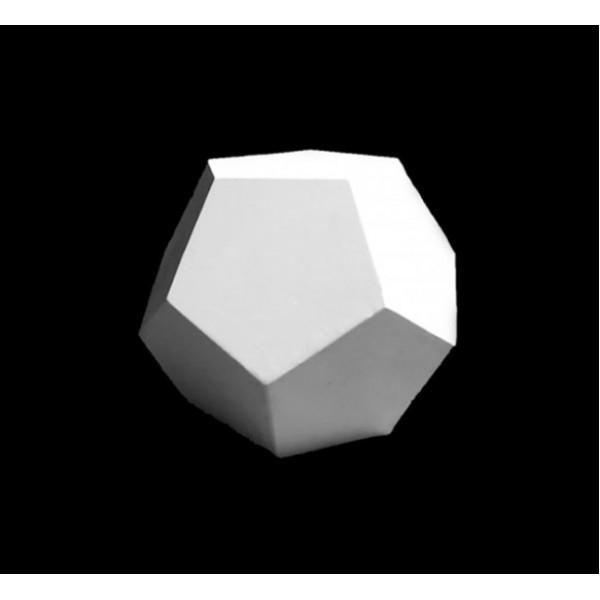 Ģipša figūra- dodekaedrs