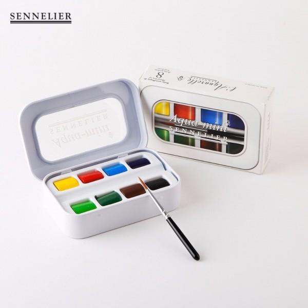 Akvareļkrāsas Sennelier Aqua Mini 8 krāsu kompekts