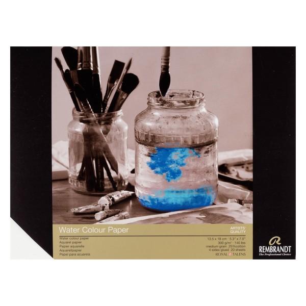 Akvareļu albums REMBRANDT 13,5x18 cm; 300 gr/m; 25 % kokvilna