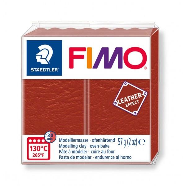 Polimērmāls FIMO Leather-Effect, brūns 749