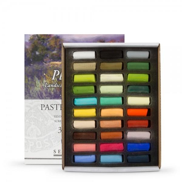 "Pasteļu komplekts Sennelier  Landscape Half length (pusītes)"",30  krāsas"