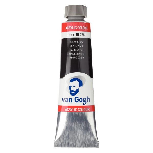 Akrila krāsa van Gogh 150ml, oksīda melns