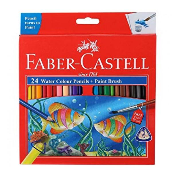 Akvareļu zīmuļi Faber Castell 24 krāsas