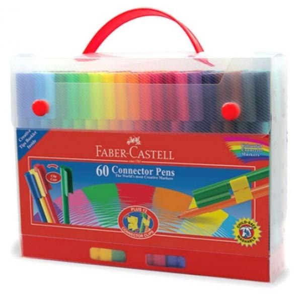 "Flomasteri ""Connector"" plastmasas koferī, 60 krāsas"