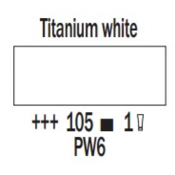 COBRA ūdenī šķīstoša eļļas krāsa 40ml, titāna balta 105