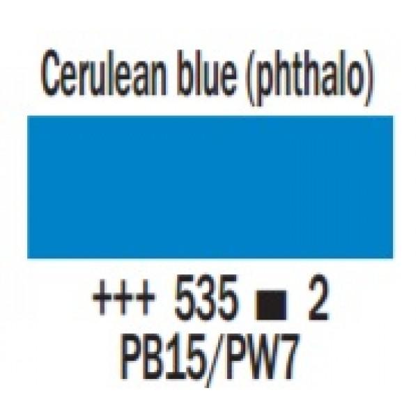 COBRA ūdenī šķīstoša eļļas krāsa 40ml, Cerulean (phthalo) zils 535