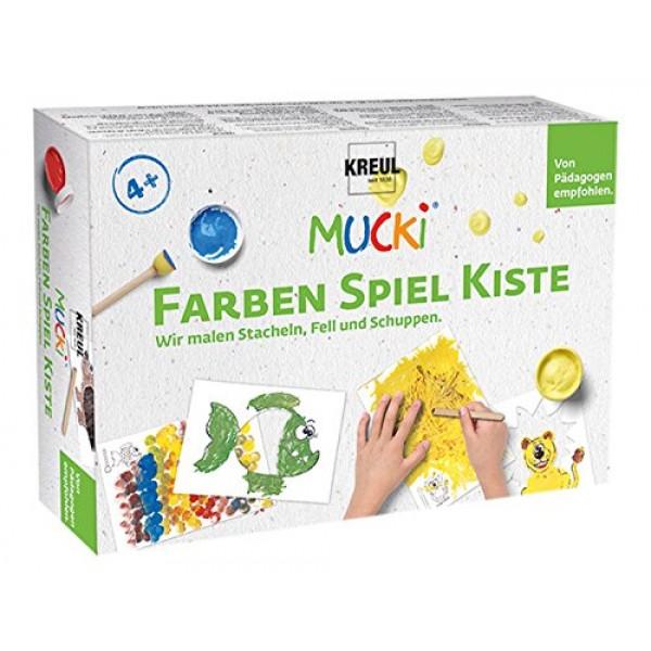 Pirkstiņkrāsas Mucki komplekts tekstūra veidošanai.
