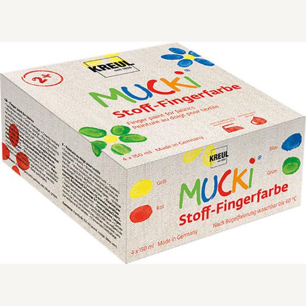Pirksiņkrāsas tekstilam Mucki, 4 x 150ml