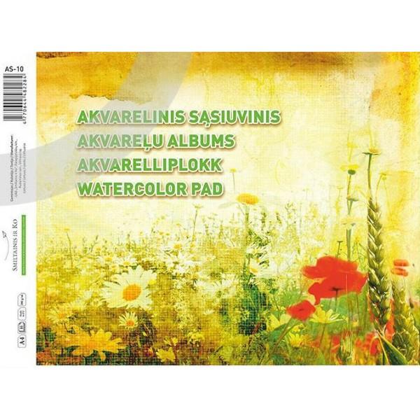 Akvareļu albums AS-10 A4
